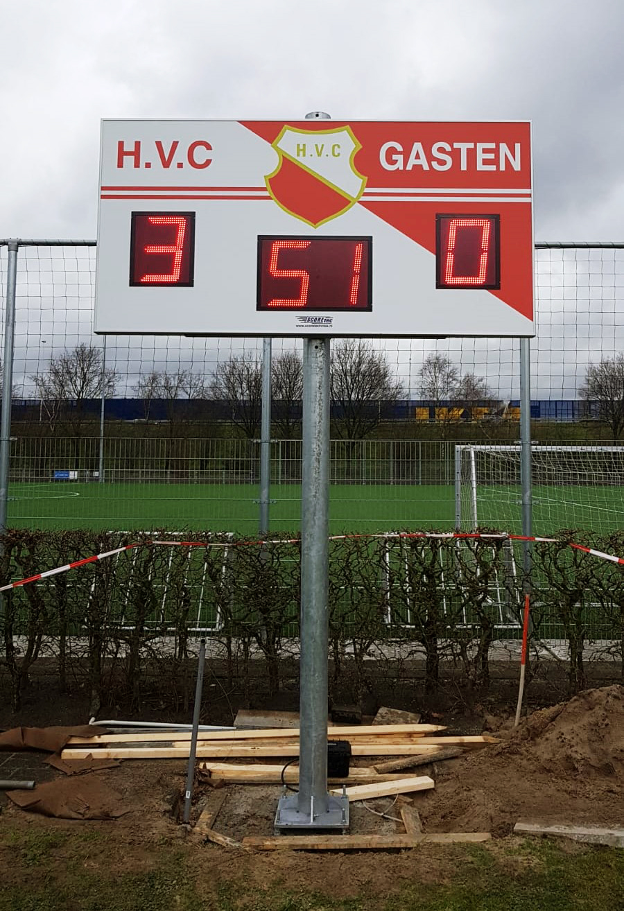 scorebord voetbal scoretec hvc amersfoort