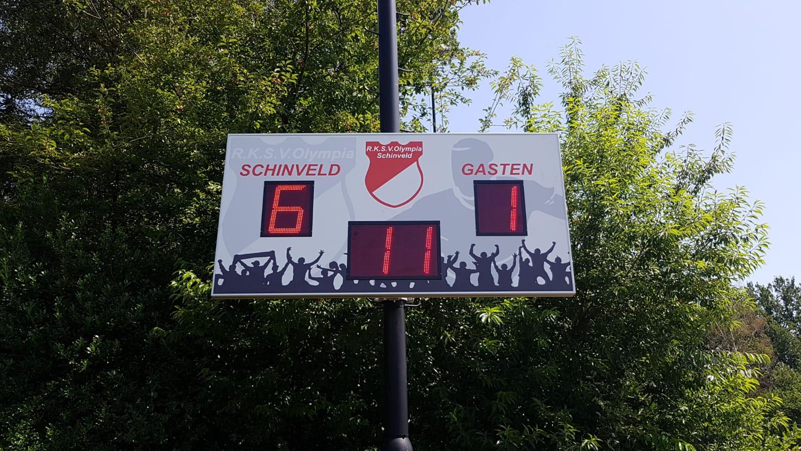 scorebord voetbal scoretec olympia schinveld