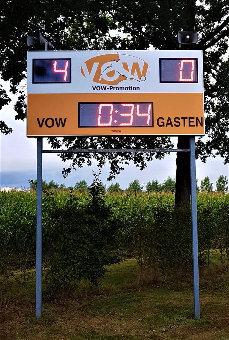 scorebord voetbal scoretec vow