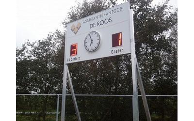 voetbalscorebord scorebord vv Oerterp scoretec