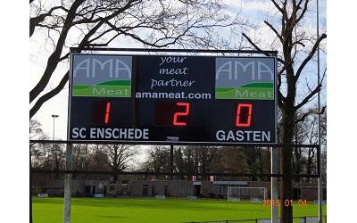 voetbalscorebord scorebord SC Enschede scoretec