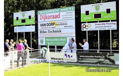 voetbalscorebord scorebord Warnsveldse Boys scoretec