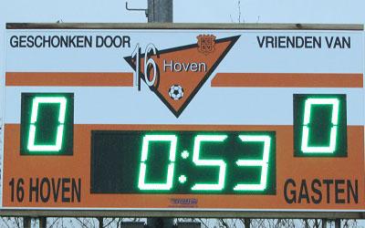 voetbalscorebord scorebord 16Hoven scoretec