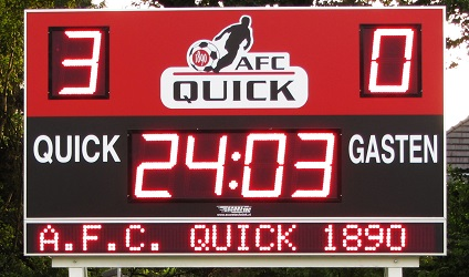voetbalscorebord scorebord AFC Quick Amersfoort scoretec