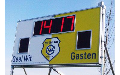 voetbalscorebord scorebord Geel-Wit Ameland Nes scoretec
