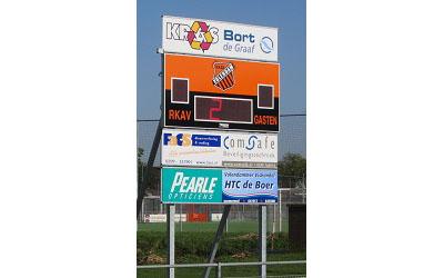 voetbalscorebord scorebord RKAV scoretec