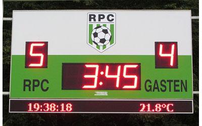 voetbalscorebord scorebord RPC Eindhoven scoretec