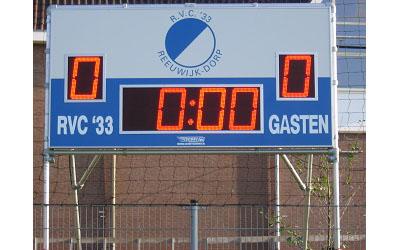 voetbalscorebord scorebord RVC 33 Reeuwijk scoretec