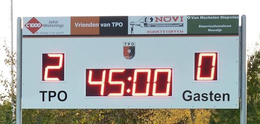 voetbalscorebord scorebord TPO Moerdijk scoretec