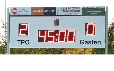 voetbalscorebord scorebord TPO scoretec