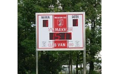 voetbalscorebord scorebord vv Makkum scoretec