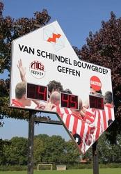 voetbalscorebord scorebord vv Nooitgedacht scoretec