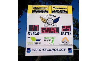 voetbalscorebord scorebord TSV Noad scoretec