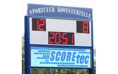 voetbalscorebord scorebord Kootstertille scoretec
