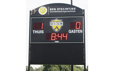 voetbalscorebord scorebord DESM Weert scoretec