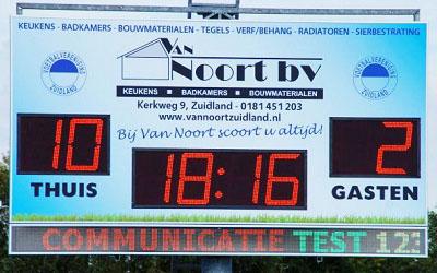 voetbalscorebord scorebord vv Zuidland scoretec