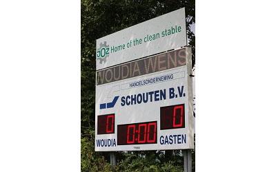 voetbalscorebord scorebord Woudia scoretec