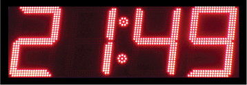 rood led display scorebord klok scoretec