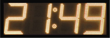 geel led display scorebord klok gps scoretec