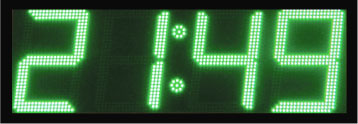 groen led display scorebord klok scoretec