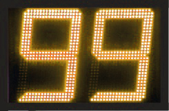 geel display led scorebord scoretec