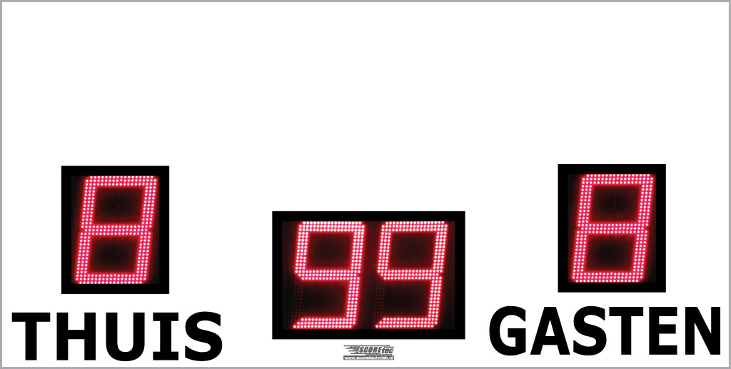 digitaal voetbalscorebord led scorebord scoretec