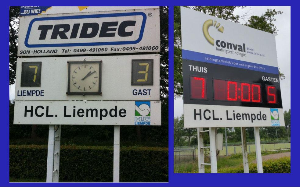 Hockey scorebord Liempde scoretec