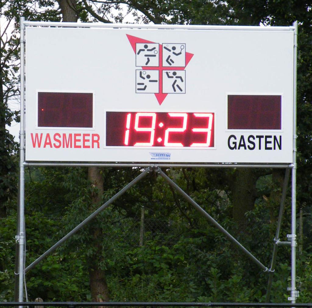 voetbal scorebord wasmeer scoretec